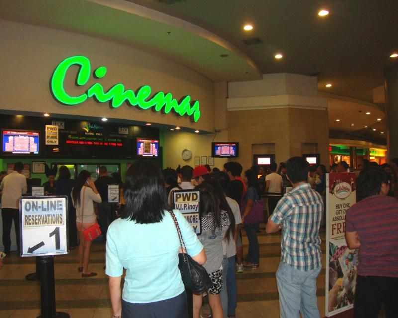 Trinoma cinema ticket area