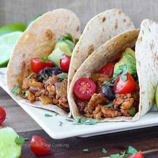 Healthy Chipotle Chorizo Chicken Tacos.