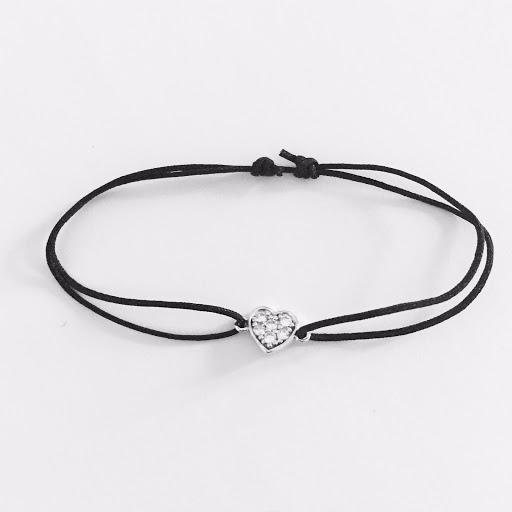 Bracelet coeur strasses