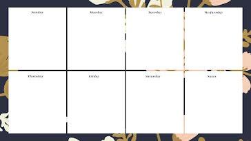 Botanic Weekly - Weekly Calendar template