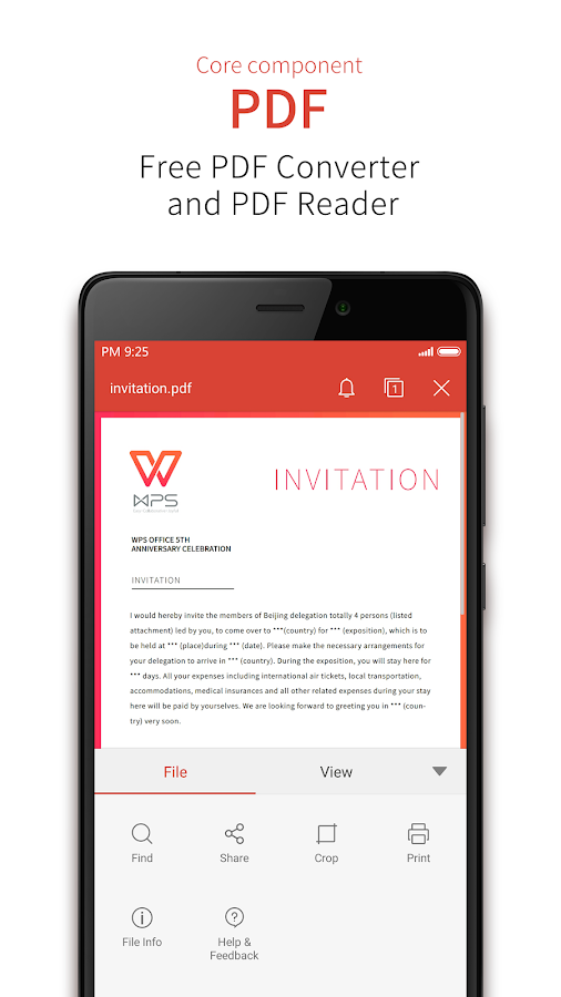 Screenshots of WPS Office + PDF for Android