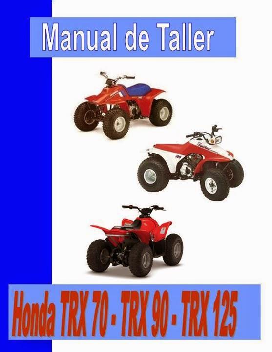 cuatriciclo Honda TRX 90 Fourtrax - Sportrax manual taller - servicio- mecanica y despiece