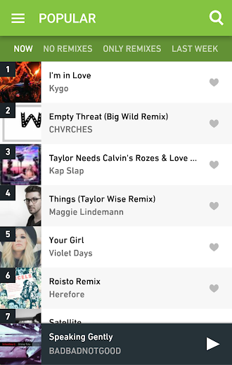Screenshot 1 for Hype Machine's Android app'