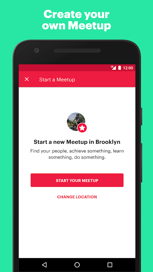 Meetup- screenshot