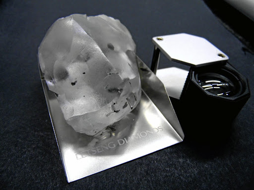 A 910-carat colourless diamond found at the Letseng mine in the southern African kingdom of Lesotho is seen in this handout photo supplied by Gem Diamonds, January 15, 2018. Picture: GEM DIAMONDS/REUTERS