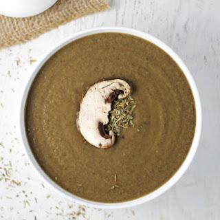 Creamy Balsamic Mushroom Soup .