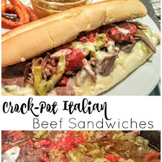 Easy Italian Beef Sandwiches - Crock-pot