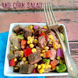 Cuban Style Steak and Corn Salad