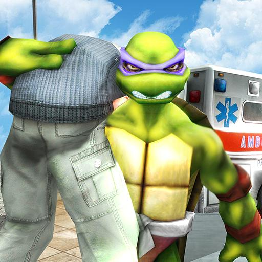 Flying Ninja Turtle Warrior City Rescue Mission 3D