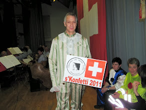 Photo: Hansruedi Sägesser, der musikalische Leiter der TPCB Pfeifer.