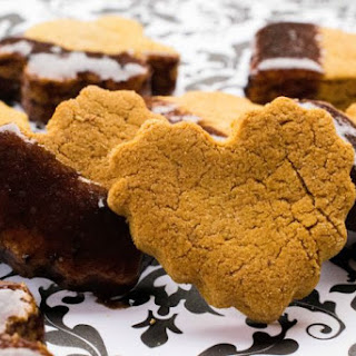 Pumpkin Peanut Butter Dog Biscuits with Carob Dip
