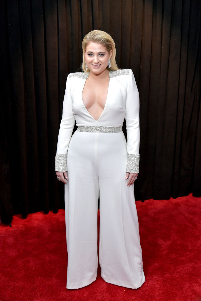 Meghan Trainor on the red carpet at the 2019 Grammy Awards.