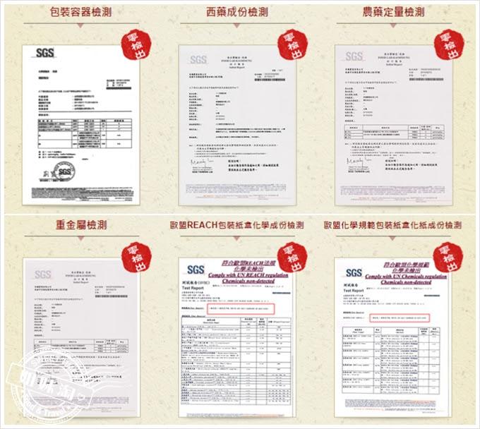 十八味養身茶SGS食品檢驗證書