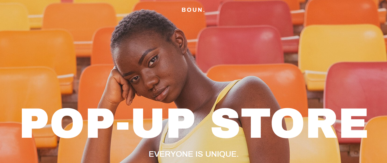 Template pop-up store sur Zyro