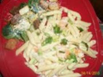 Garlic Jazz Pasta w/ shrimp