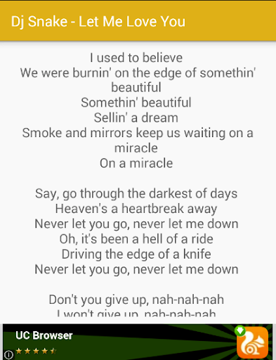 let me love you lyrics
