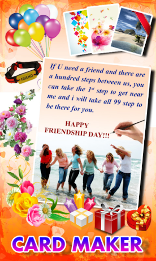 Friendship card maker