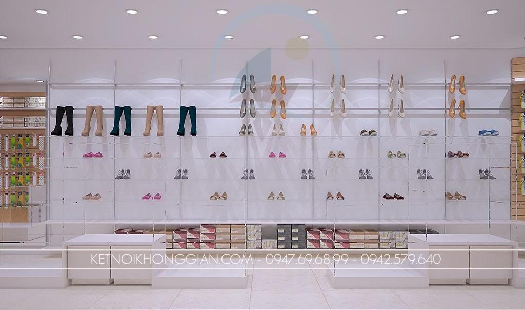 thiết kế shop giày dép thông minh