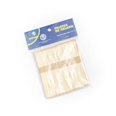 paletas de helado madera x50