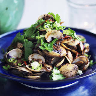 Baby Clams with Black Beans.