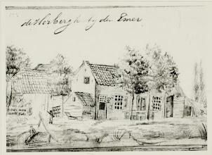 Photo: +- 1800 De Herberg bij den Emer uit het schetsboekje van Van Huijsen.