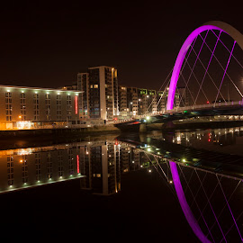 Clyde arc glasgow by Gordon Stewart - Buildings & Architecture Bridges & Suspended Structures ( scotland, clyde, glasgow, clydearc, bridge )
