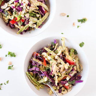 Thai Peanut Cabbage Salad.