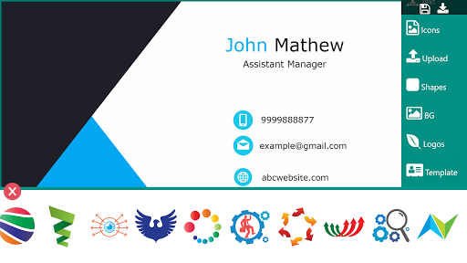 Business Card Maker Free Visiting Card Maker photo screenshot 5