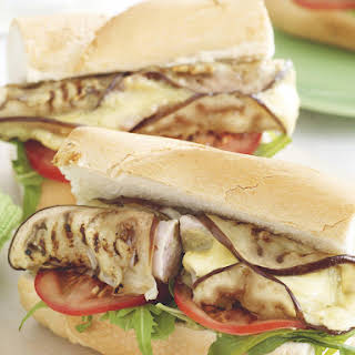 Eggplant and Chicken Sausage Subs.