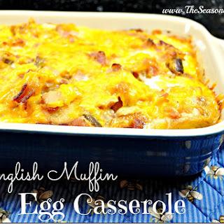 English Muffin Egg Casserole