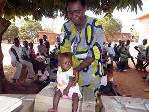 Photo: elle a bénéficié du lait maternisé  du CTM