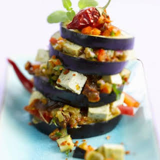 Eggplant and Pepper Stack.