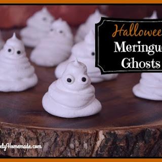 Easy Meringue Ghosts ~ Fun Halloween Cookie Recipe for Kids