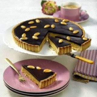 Schokoladen-Toffee-Tarte.