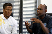 MTN8 ambassadors Josta Dladla (L) and Jabu Mahlangu (R) are on a roadshow promoting the R8m tournament around the country.