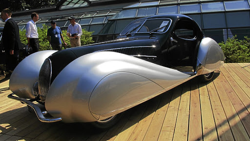 The beautiful 1937 Talbot-Lago T150-C SS 'Goutte d'Eau' coupe.   Picture: MARK SMYTH