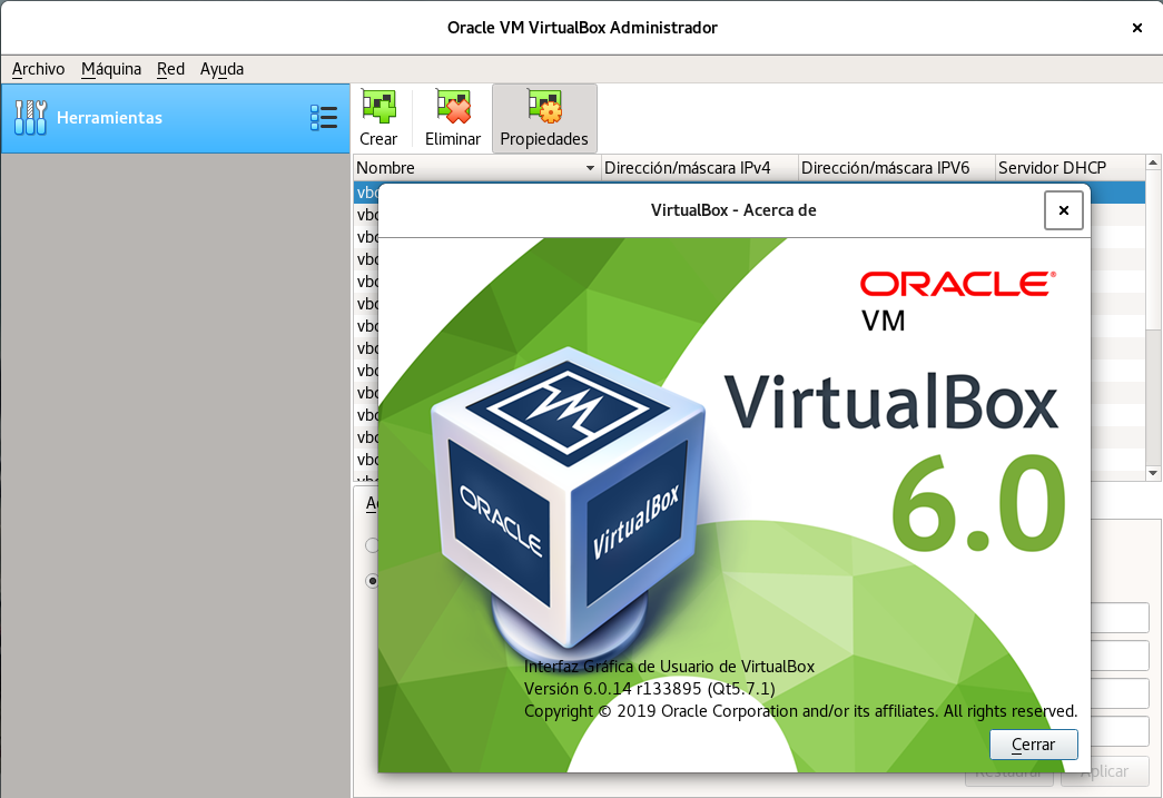 Oracle VM VirtualBox Administratror