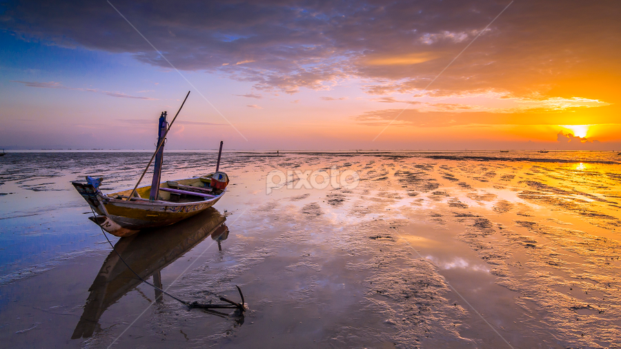 Crazy about Boat by Robertho Ponomban - Landscapes Sunsets & Sunrises ( blue, sunrise, boat, landscapes, waterscapes )