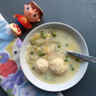 Lemon, Meatball And Porcini Chicken Noodle Soup