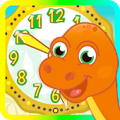 Dino Time: free learning clock
