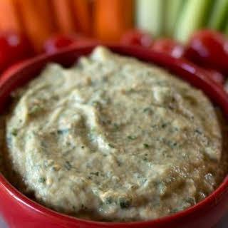 Middle Eastern Zucchini Tahini Eggplant Dip.