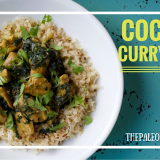 Coconut Curry Pork with Kale and Cauliflower Rice (Grain-Free, Gluten-Free, Dairy-Free)