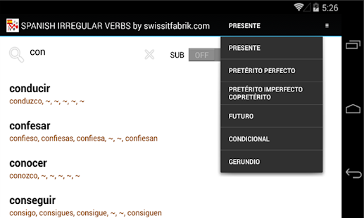SPANISH IRREGULAR VERBS- screenshot thumbnail