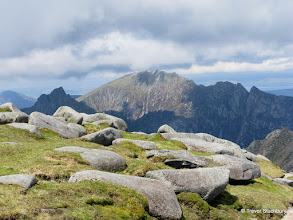 Photo: Caisteal Abhail and the Prominant 'Witches Step' from Goat Fell