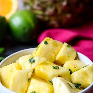 Fresh Pineapple with Citrus Herb Glaze.