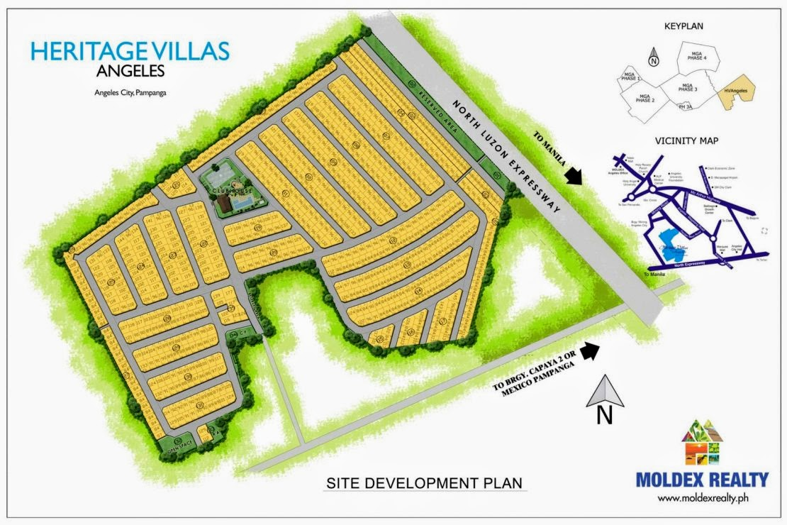 Heritage Angeles site development plan