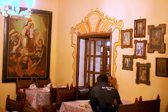 Photo: The restaurant (the entire hotel actually) was full of Catholic iconography.