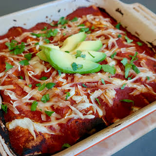 Veggie And Black Bean Enchiladas.