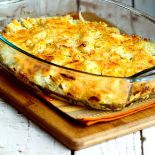 Cauliflower Gratin with Sharp Cheddar and Parmesan.