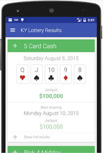KENTUCKY LOTTERY RESULTS